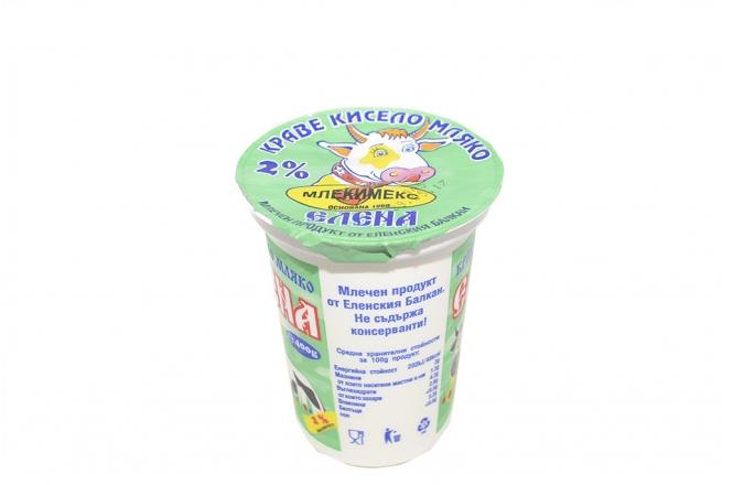 Кисело мляко Елена 2 % 400гр.